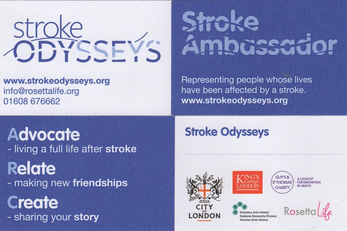 Stroke Ambassadors card
